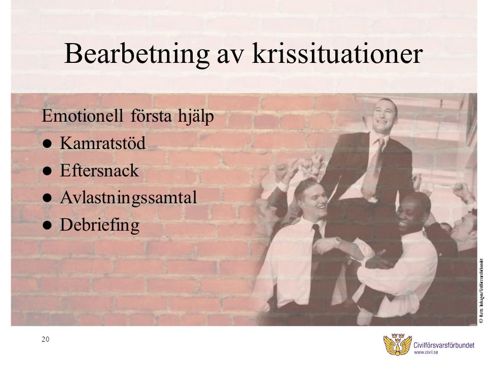 Bearbetning av krissituationer