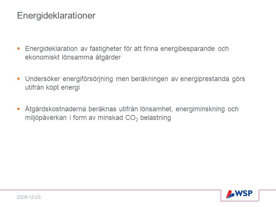 Energideklarationer Energideklaration av fastigheter för att finna energibesparande och ekonomiskt lönsamma åtgärder.