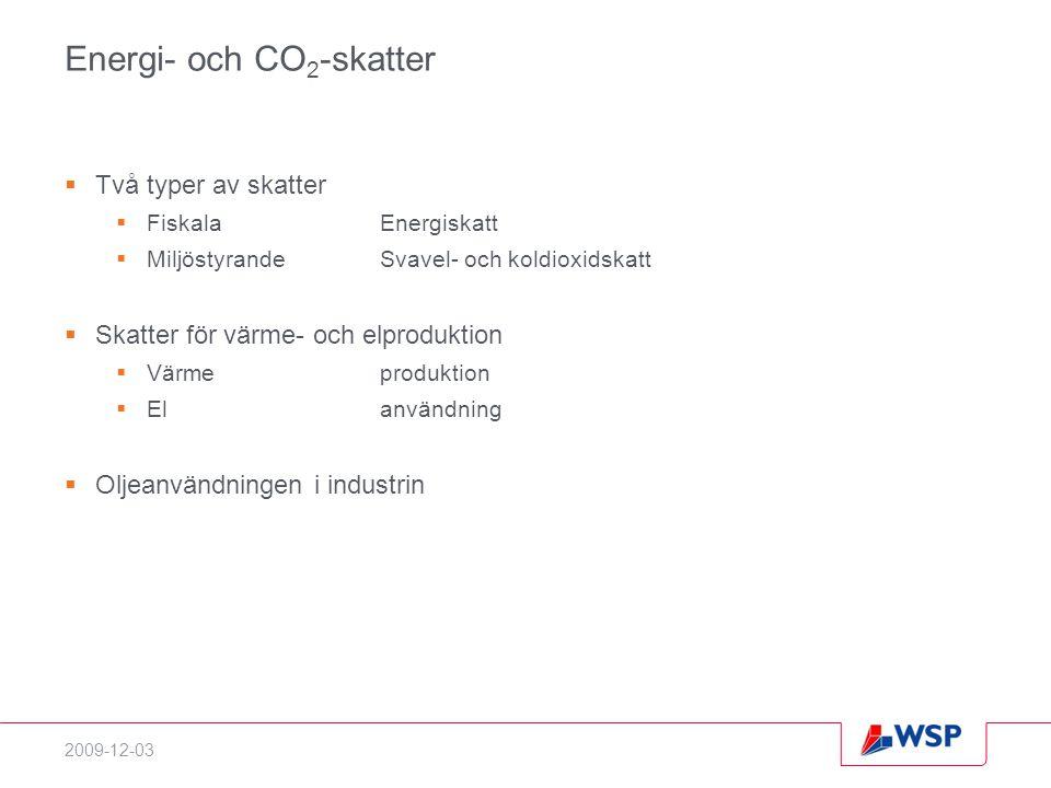 Energi- och CO2-skatter