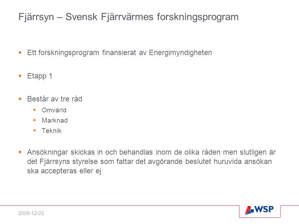Fjärrsyn – Svensk Fjärrvärmes forskningsprogram