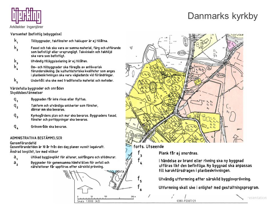 Danmarks kyrkby Bjerking presentation