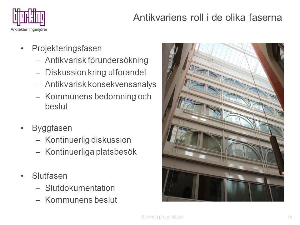 Bjerking presentation