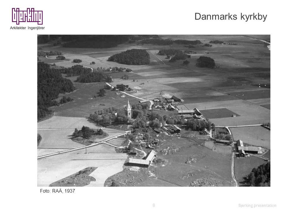 Danmarks kyrkby Foto: RAÄ, 1937 Bjerking presentation
