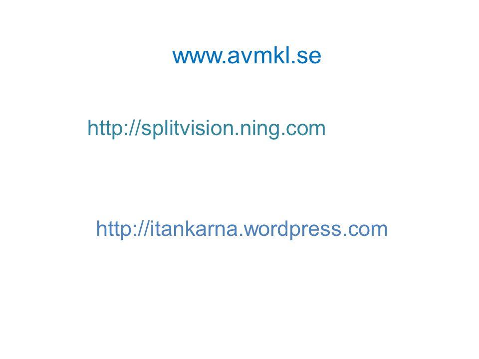 www.avmkl.se http://splitvision.ning.com
