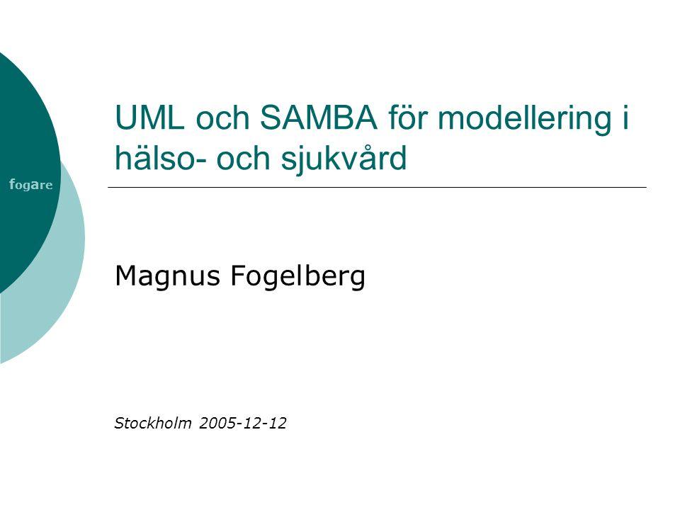 UML och SAMBA för modellering i hälso- och sjukvård