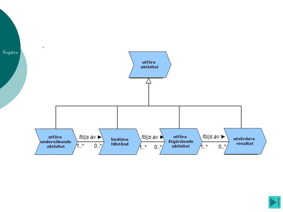 utföra aktivitet undersökande bedöma tillstånd åtgärdande utvärdera resultat