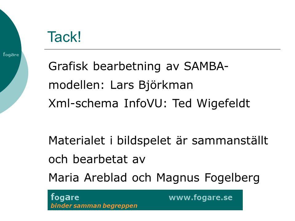 Tack! Grafisk bearbetning av SAMBA-modellen: Lars Björkman