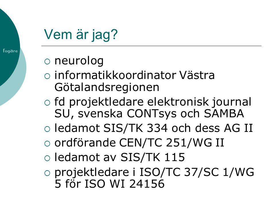 Vem är jag neurolog informatikkoordinator Västra Götalandsregionen