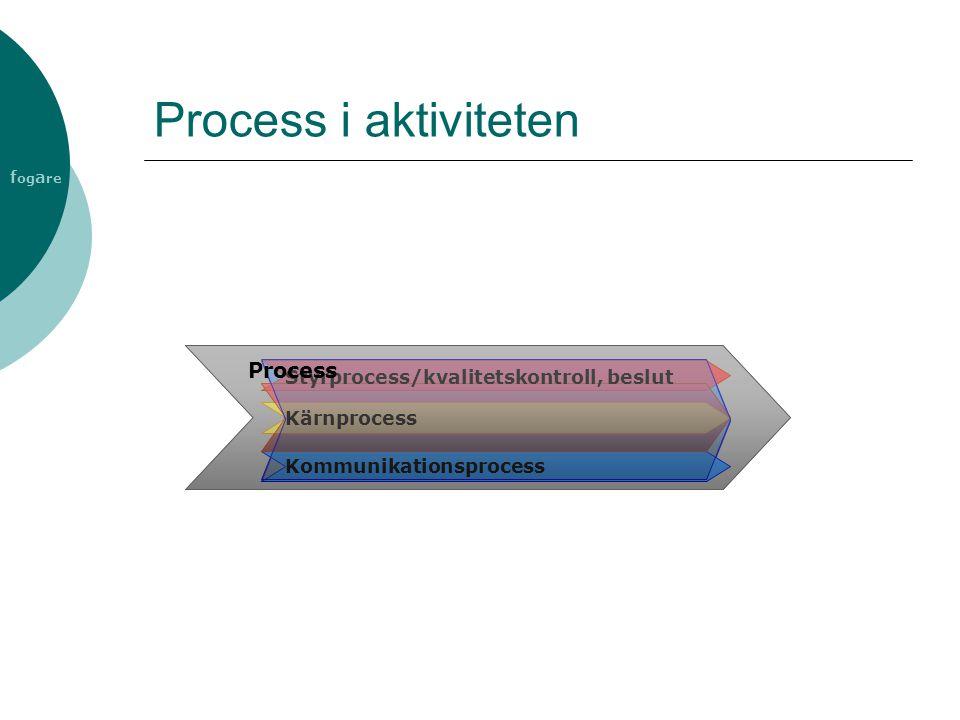 Process i aktiviteten Process Styrprocess/kvalitetskontroll, beslut
