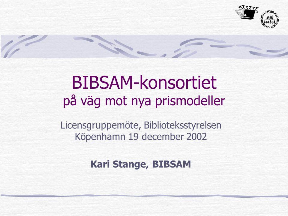 BIBSAM-konsortiet på väg mot nya prismodeller