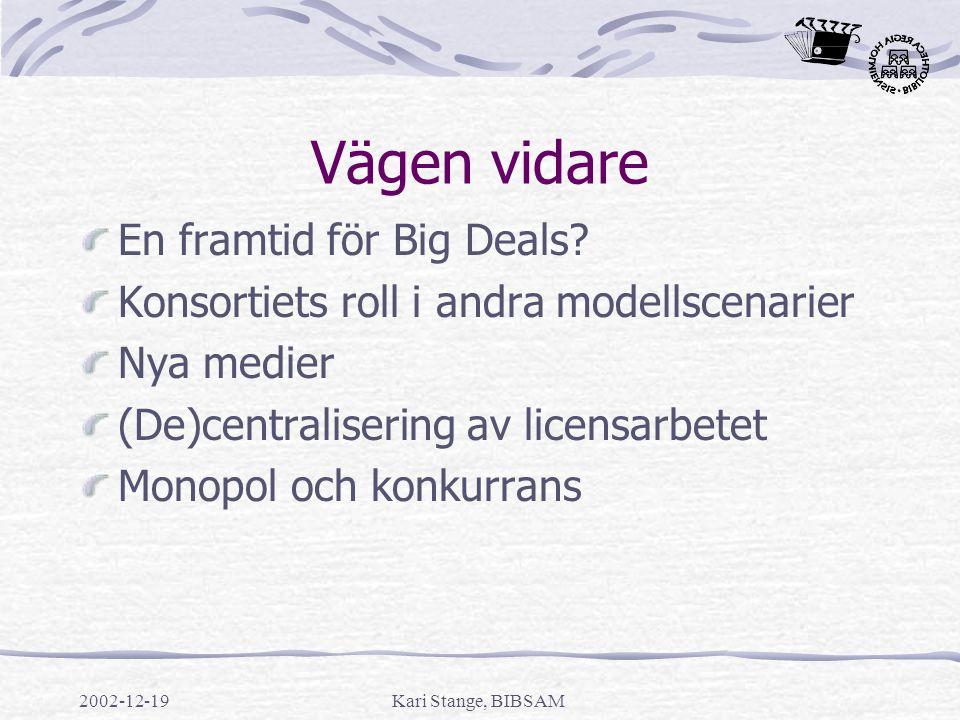 Vägen vidare En framtid för Big Deals