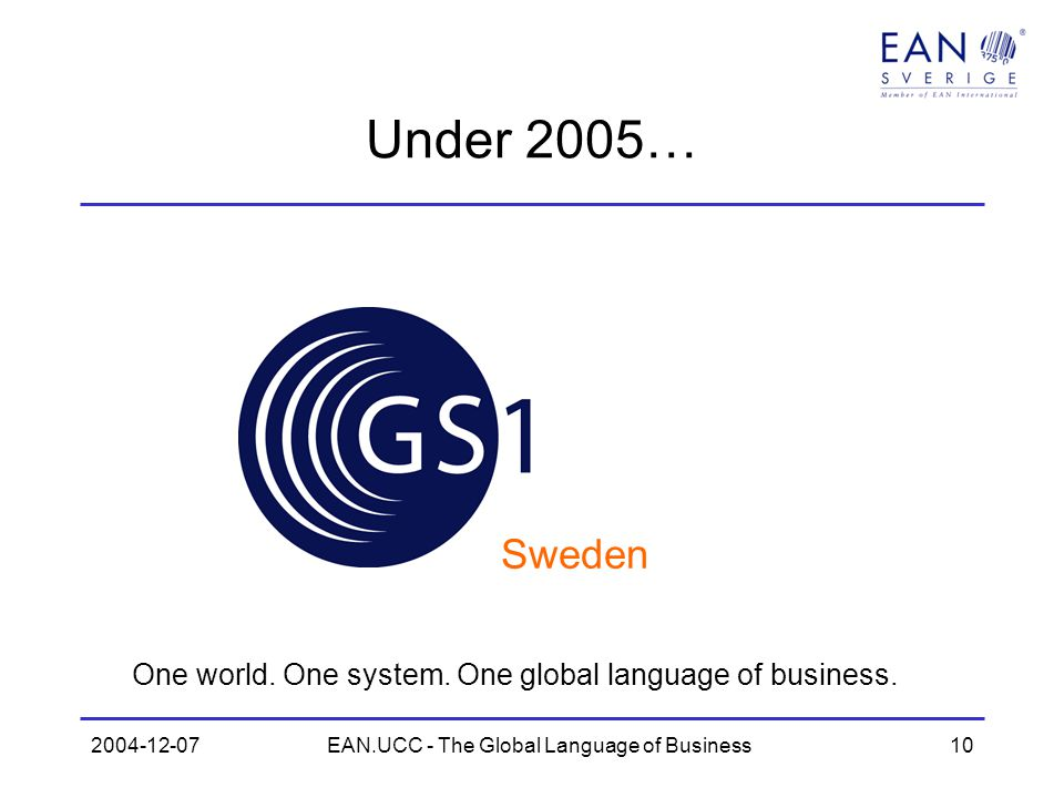 EAN.UCC - The Global Language of Business
