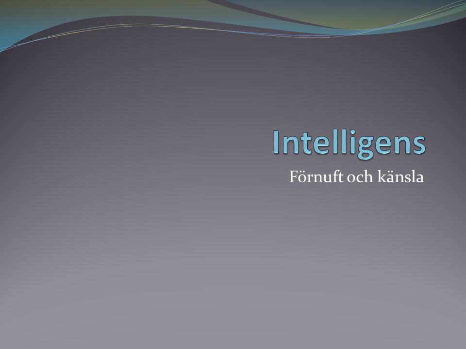Intelligens Förnuft och känsla