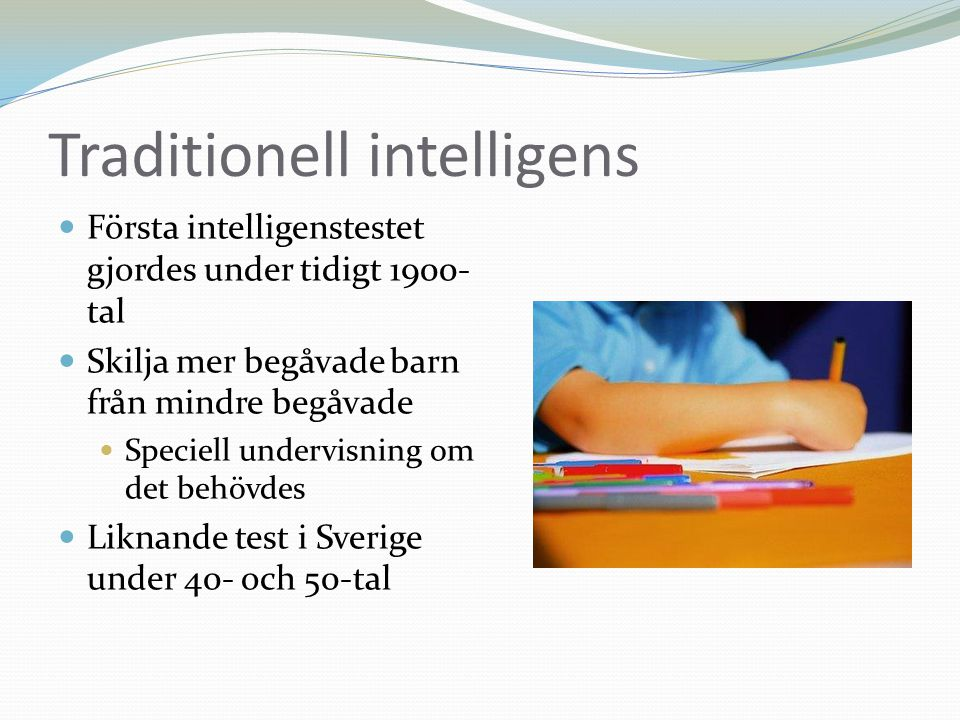 Traditionell intelligens