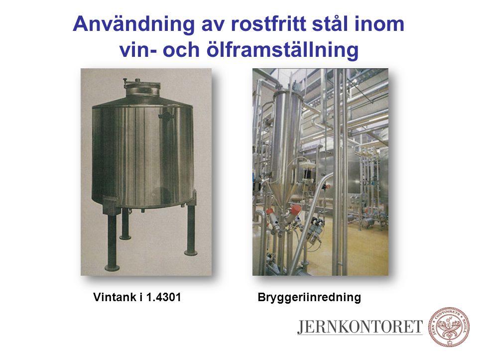 Användning av rostfritt stål inom vin- och ölframställning