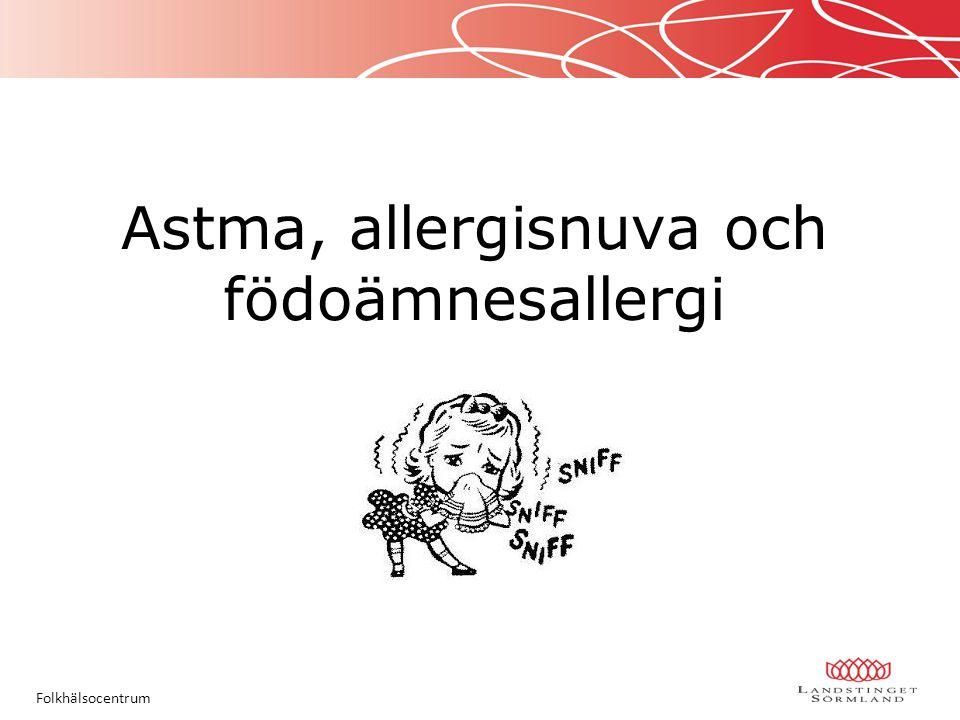 Astma, allergisnuva och födoämnesallergi