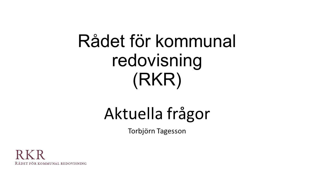 Rådet för kommunal redovisning (RKR)