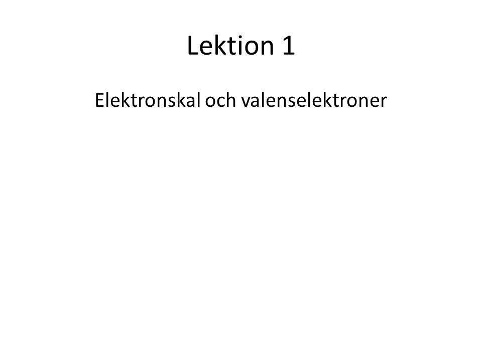 Elektronskal och valenselektroner