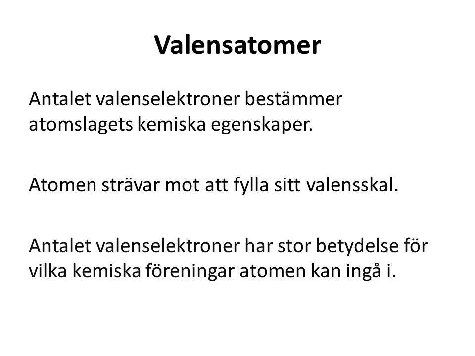 Valensatomer