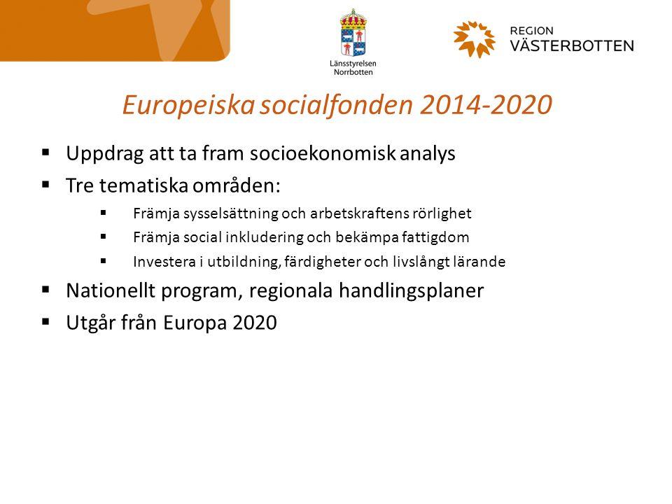 Europeiska socialfonden 2014-2020