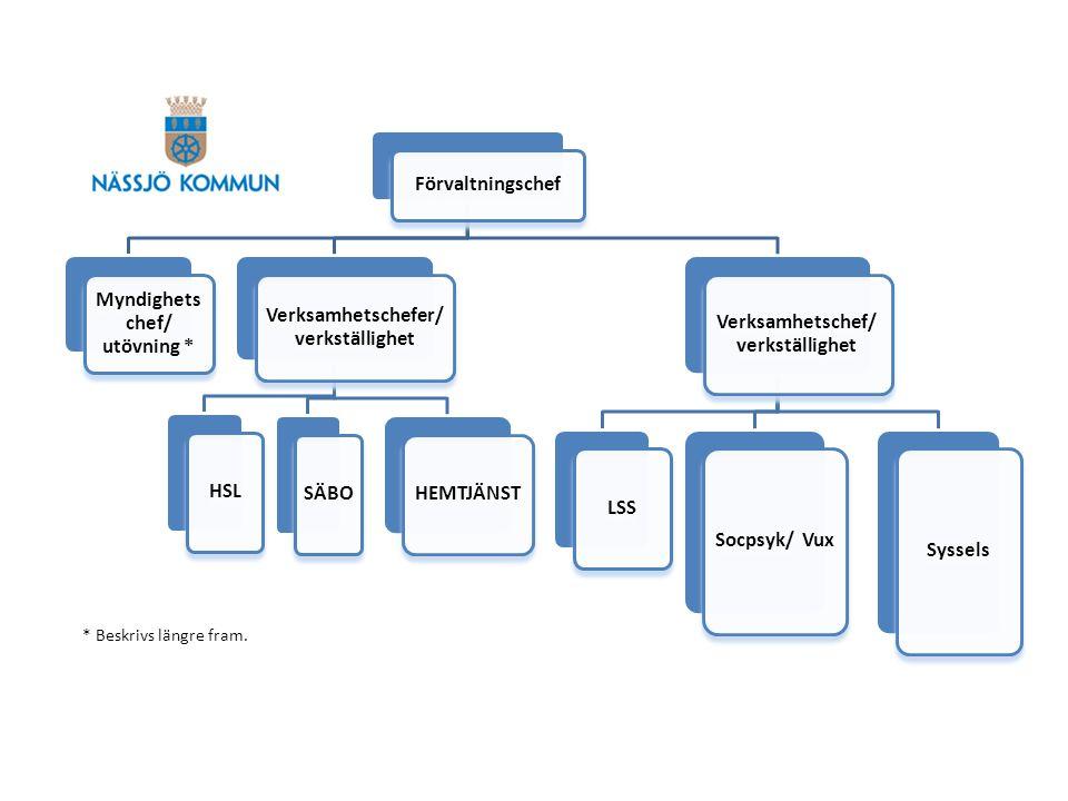 Myndighets chef/ utövning * Verksamhetschefer/verkställighet