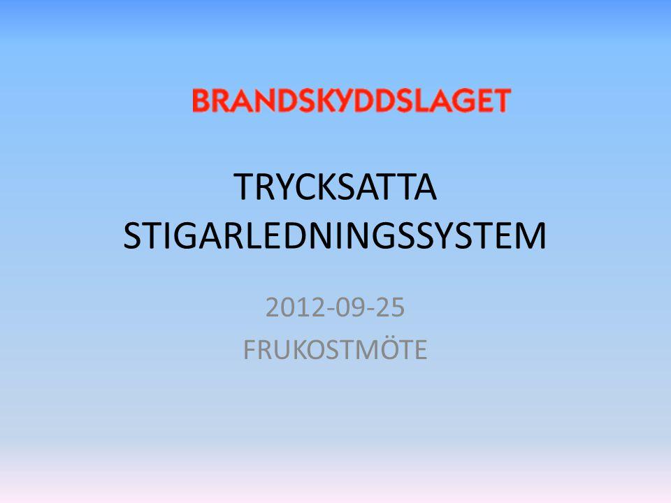 TRYCKSATTA STIGARLEDNINGSSYSTEM