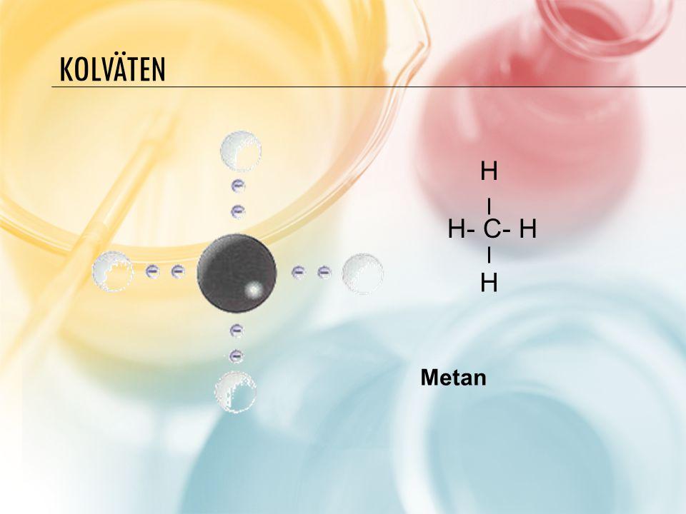 Kolväten H H- C- H H Metan