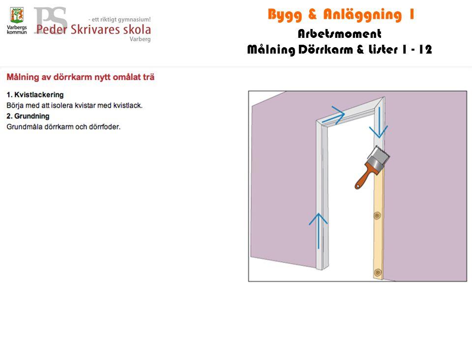 Målning Dörrkarm & Lister 1 - 12