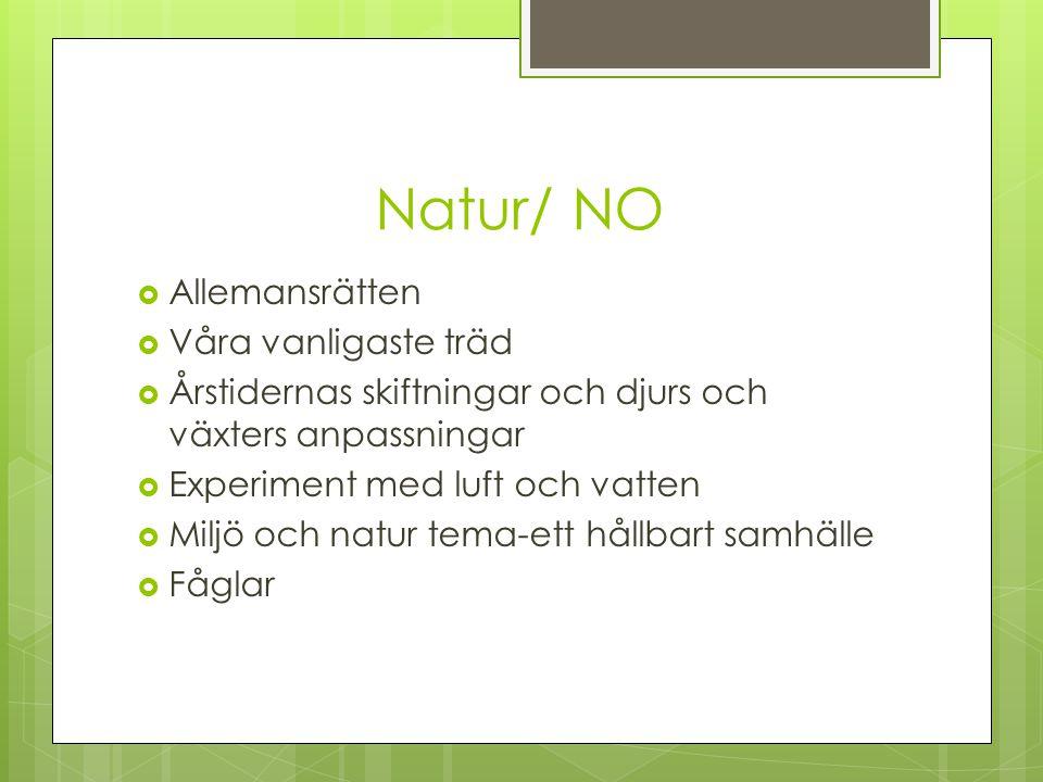 Natur/ NO Allemansrätten Våra vanligaste träd