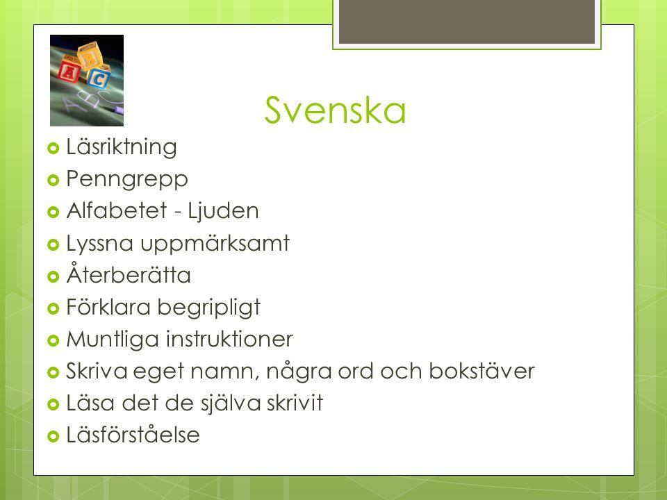 Svenska Läsriktning Penngrepp Alfabetet - Ljuden Lyssna uppmärksamt
