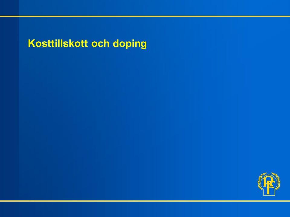 Kosttillskott och doping