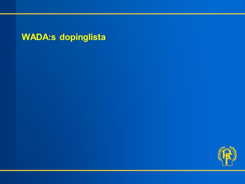 Information 2002 WADA:s dopinglista