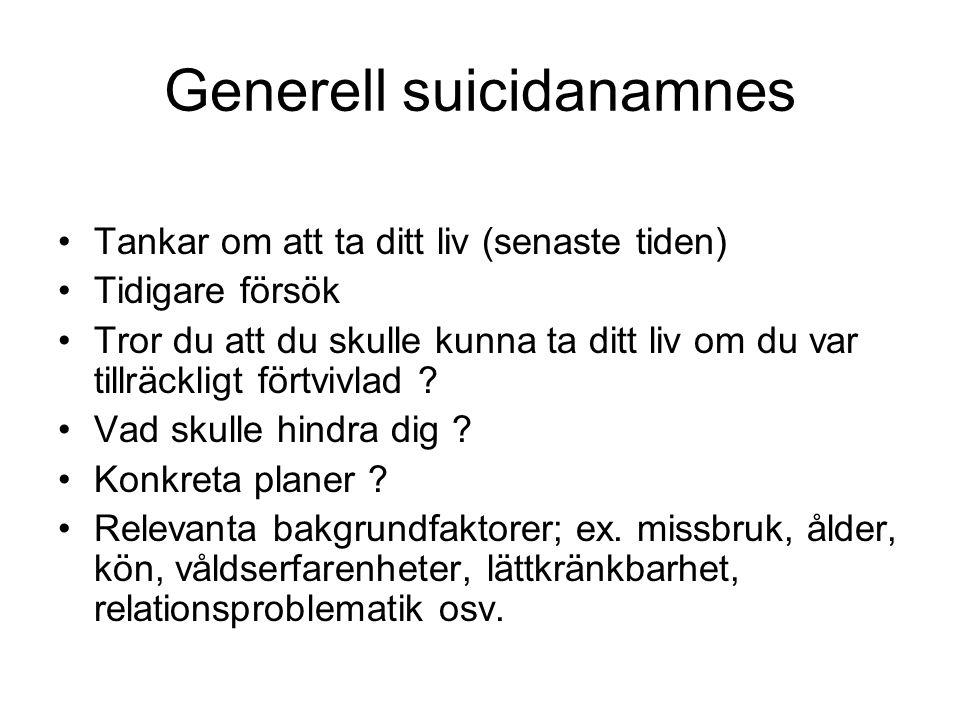 Generell suicidanamnes