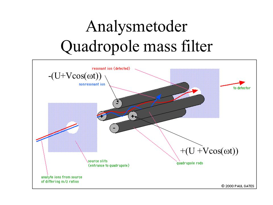 Analysmetoder Quadropole mass filter