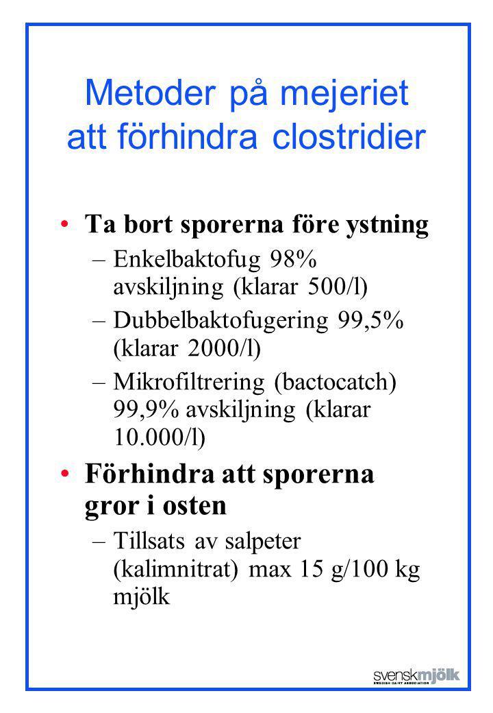 Metoder på mejeriet att förhindra clostridier