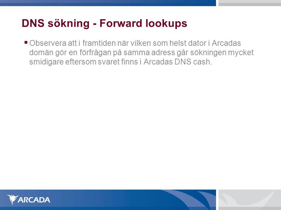 DNS sökning - Forward lookups