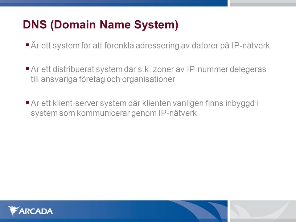 DNS (Domain Name System)‏