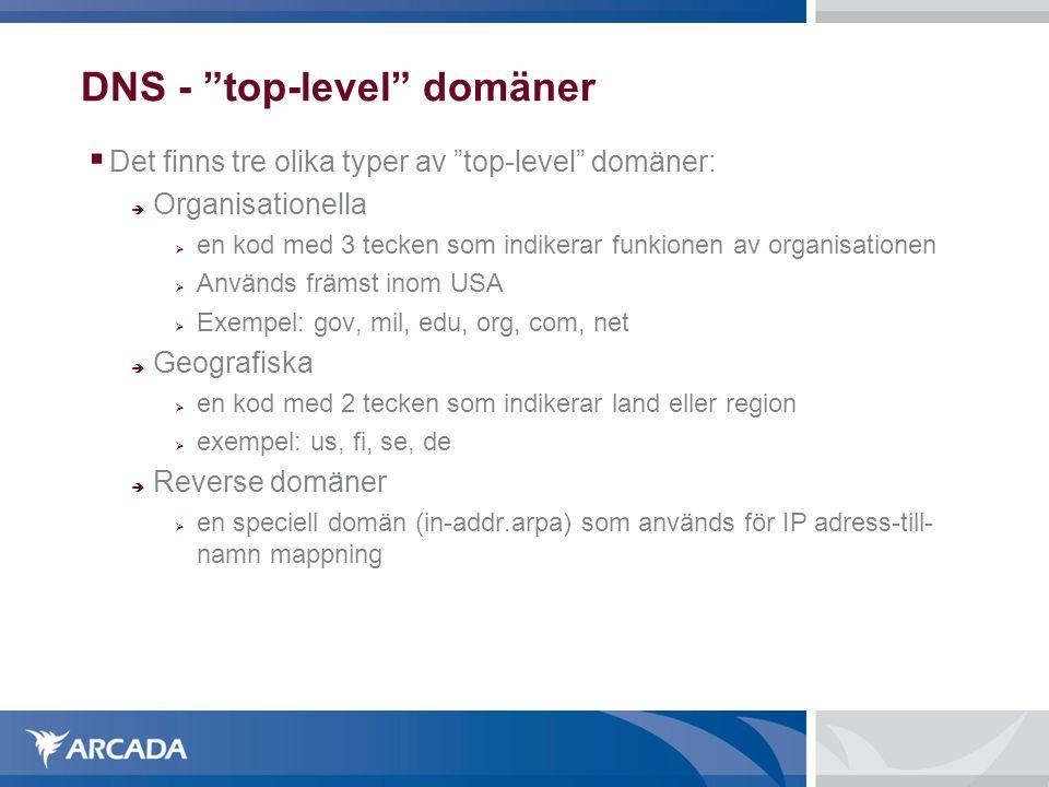 DNS - top-level domäner