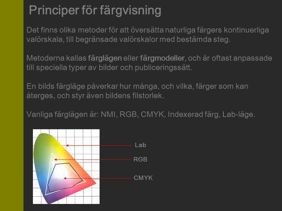Principer för färgvisning
