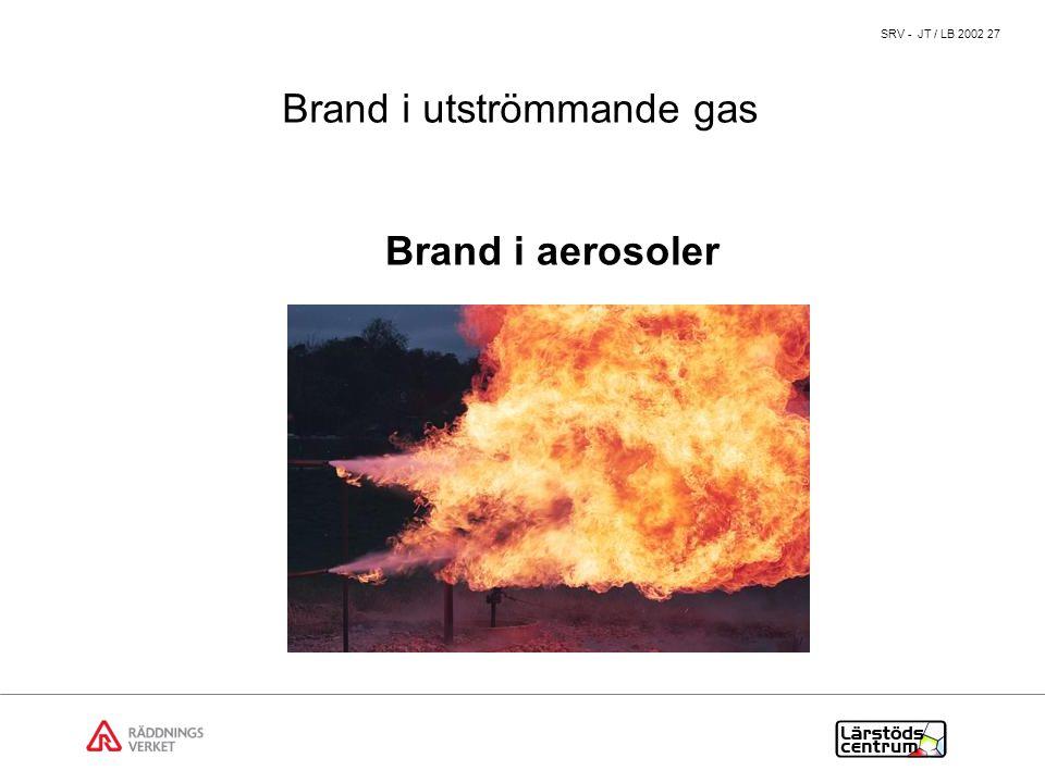 Brand i utströmmande gas