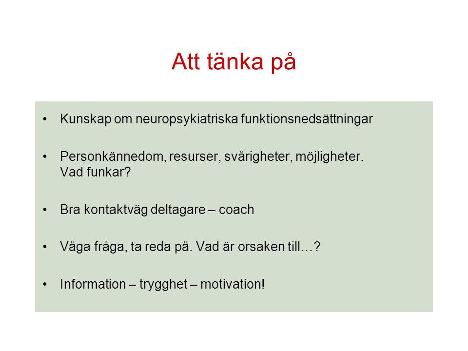 Att tänka på Kunskap om neuropsykiatriska funktionsnedsättningar