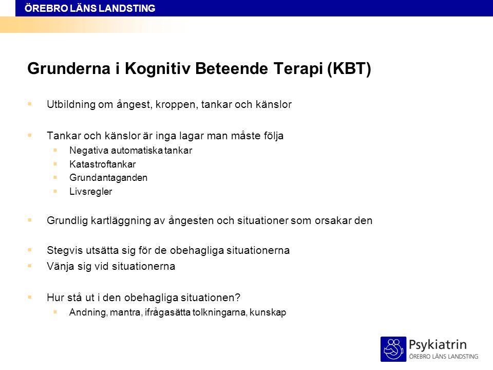 Grunderna i Kognitiv Beteende Terapi (KBT)