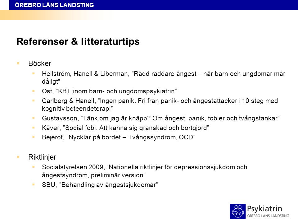 Referenser & litteraturtips