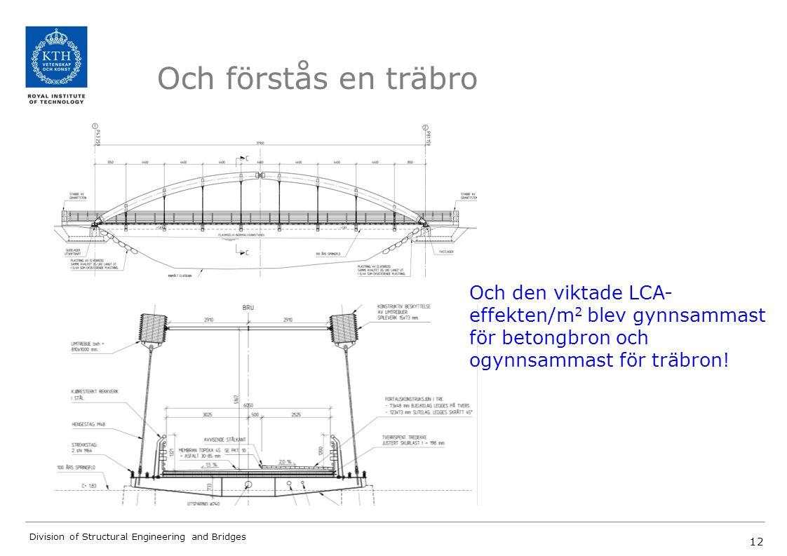 Och förstås en träbro Och den viktade LCA-