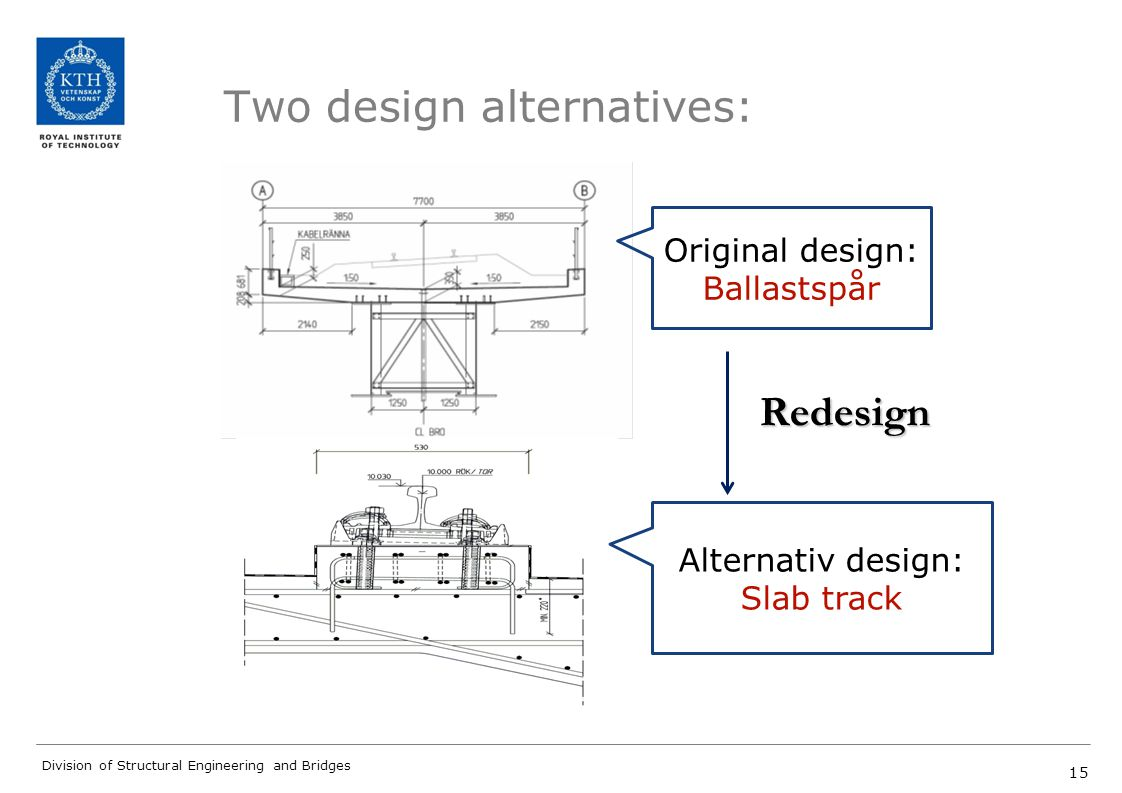 Two design alternatives: