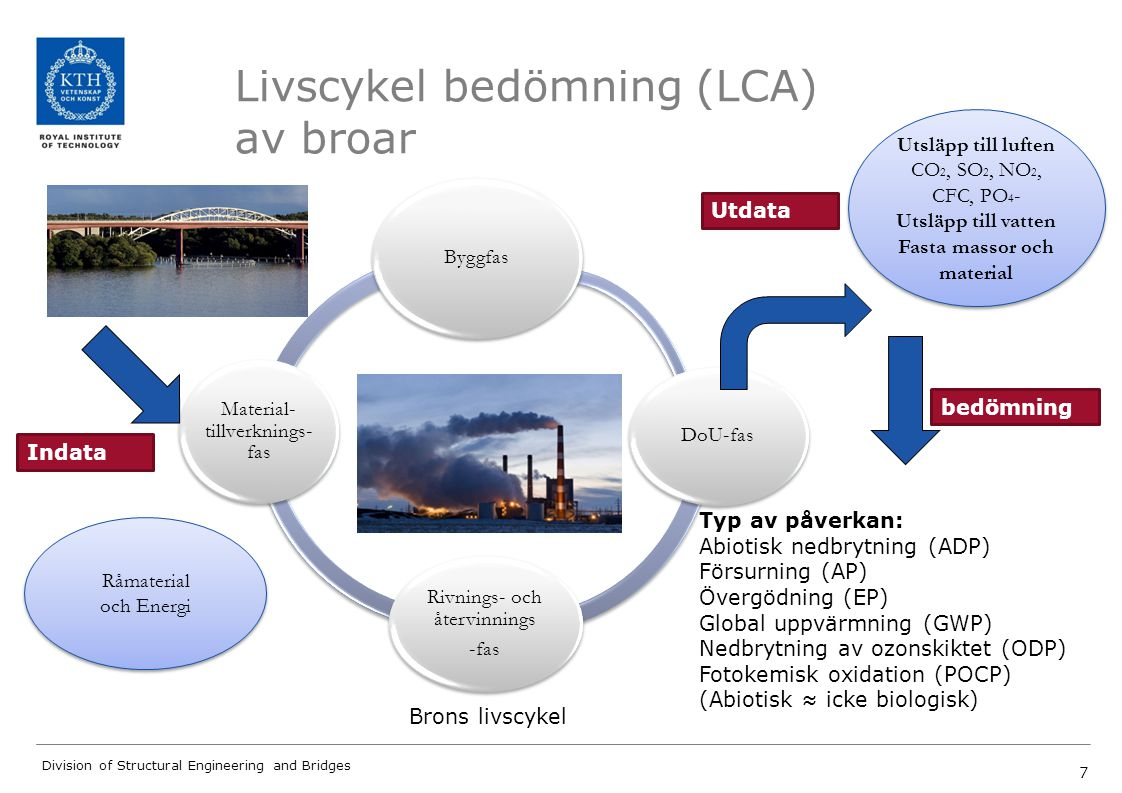 Livscykel bedömning (LCA) av broar