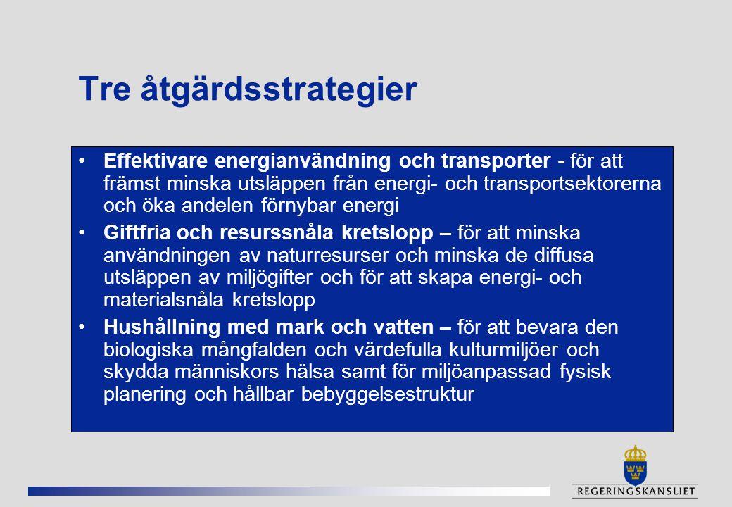 Tre åtgärdsstrategier
