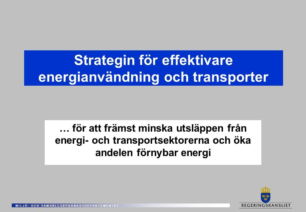Strategin för effektivare energianvändning och transporter