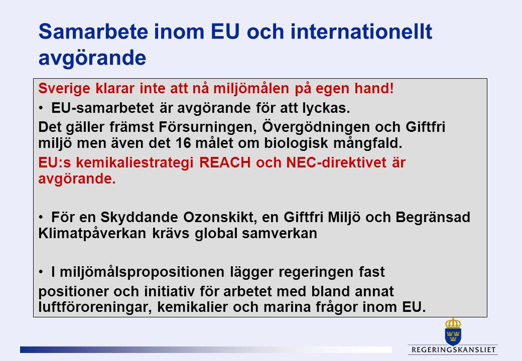 Samarbete inom EU och internationellt avgörande