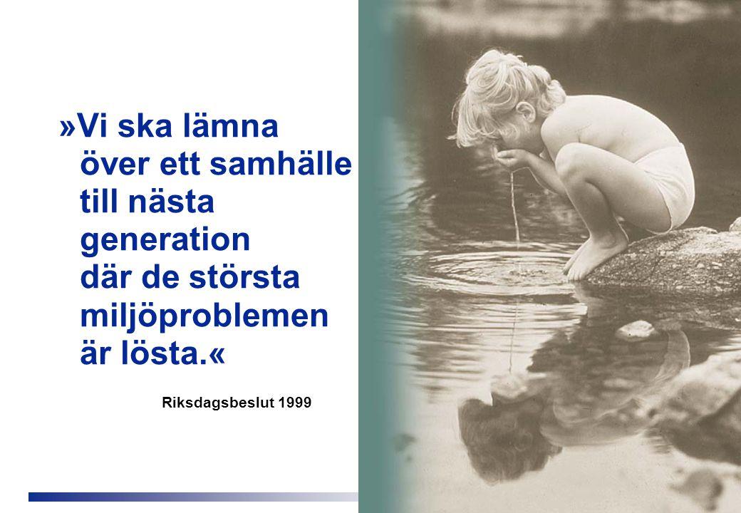 »Vi ska lämna över ett samhälle till nästa generation där de största miljöproblemen är lösta.«